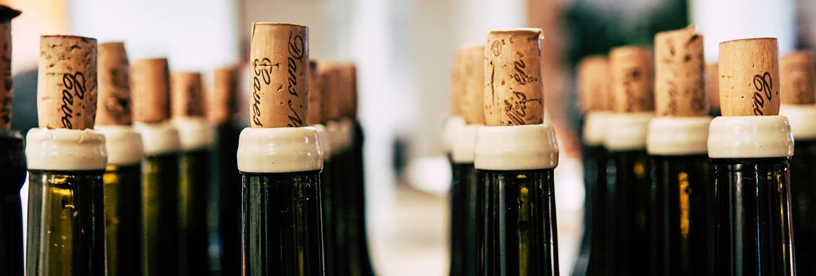 vino blanco de Galicia corcho